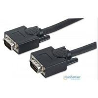 Cable Vga Manhattan Para Monitor O Proyector 3 Mts Negro, Ma