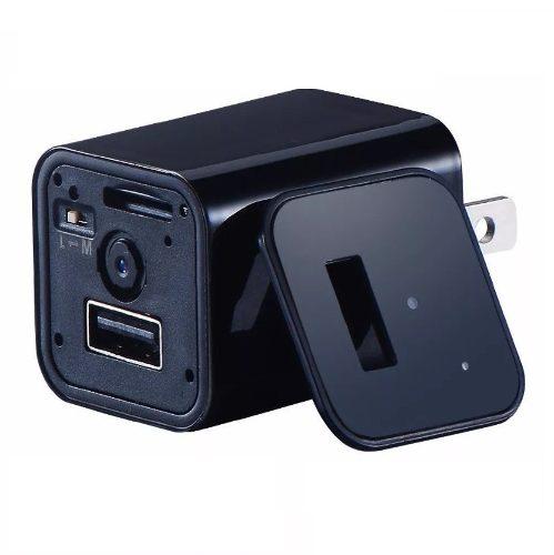 Camara Espia Usb Cargador Usb Sensor Movimiento Fullhd p