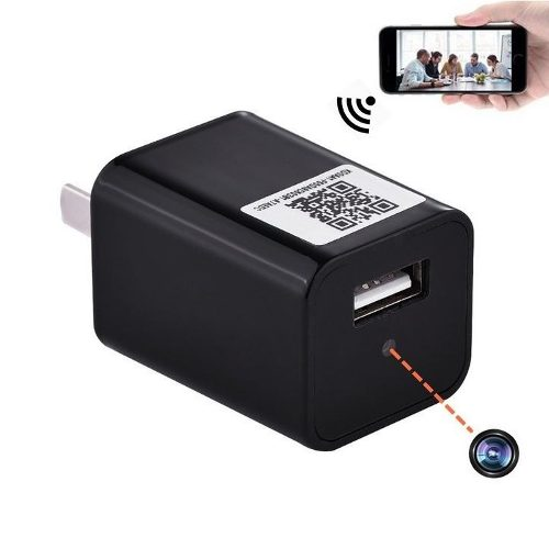 Cámara En Cargador Wifi Espia 32gb Usb Spy Cam p Full
