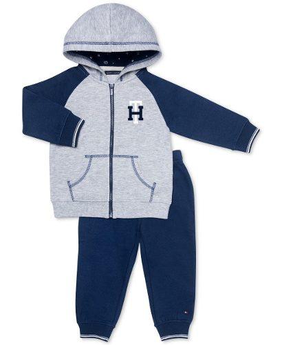 Conjunto Para Niño Tommy Hilfiger Azul Con Gris