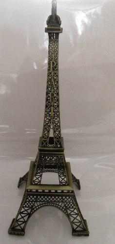 5 Torres Eiffel Metal 38 Cm Grabado Paris Caja De Regalo