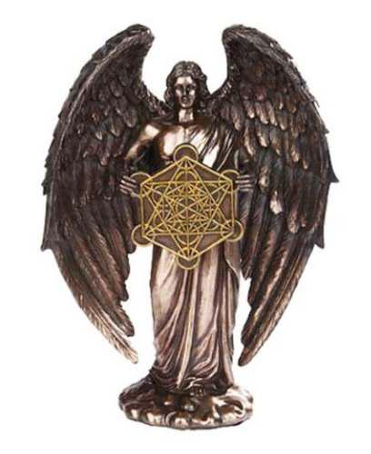 Angel Metatron De 28cm Acabado En Bronce