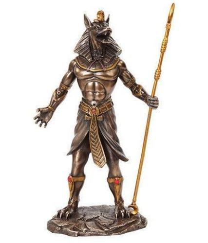 Anubis Dios Perro Egipcio De 26cm Acabado En Bronce