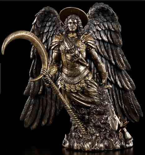 Arcangel Gabriel De 26cm Acabado En Bronce