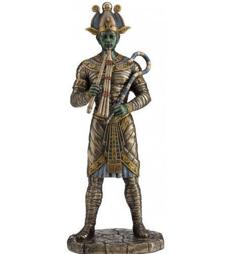Dios Egipcio Osiris Acabado En Bronce De 27cm