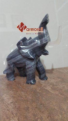 Elefante Escultura De Mármol Natural 25 Cm De Altura