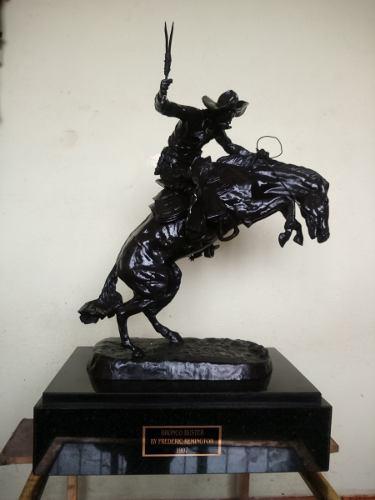 Escultura Bronce Caballo Jinete Frederic Remington