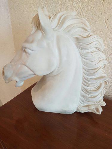Escultura Cabeza De Caballo De Alabastro