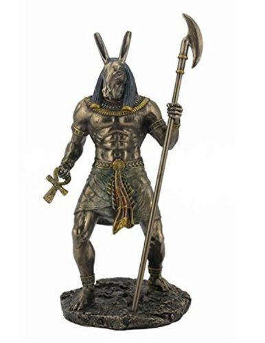 Escultura De Anubis Acabado En Bronce De 27cm