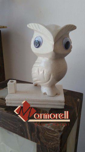 Escultura De Búho Marmol Gris Y Bellagio 20 Cm, Graduacion