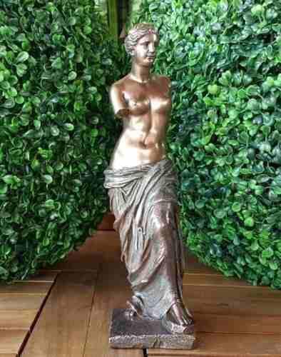 Escultura De Venus De Milo Acabado En Bronce De 28cm
