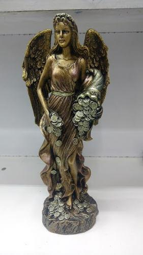 Escultura Diosa De La Fortuna De 29 Cm Con Alas