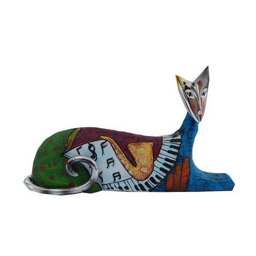 Escultura Gato Musical