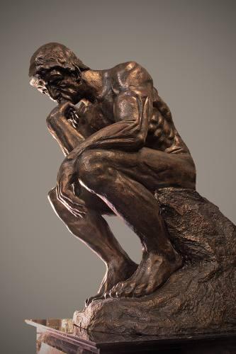 Escultura Monumental El Pensador De Rodin Bronce