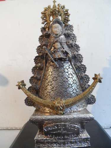 Escultura Virgen La Blanca Paloma El Rocio Bañada De Plata