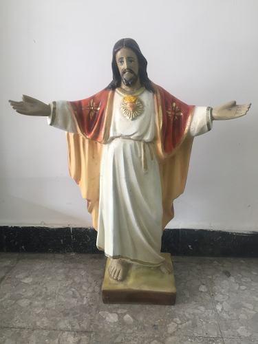 Imagen Religiosa Sagrado Corazón De Marmolina 67 Cms Altur