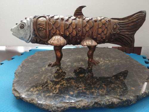 Increíble Escultura En Bronce Del Gran Simon Cruz, Única!!