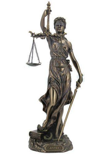 Justicia Acabado En Bronce De 30cm