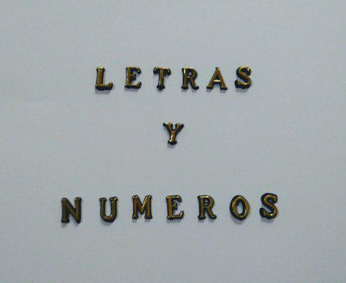 Letras De Plástico Para Decorar Manualidades. (1 Cm)