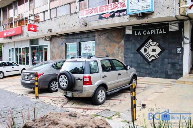Local comercial en renta sobre avenida niños héroes junto
