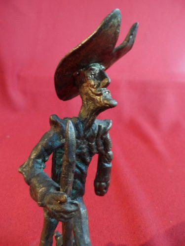 Quijote De La Mancha Escultura De Bronce Antigua Europea