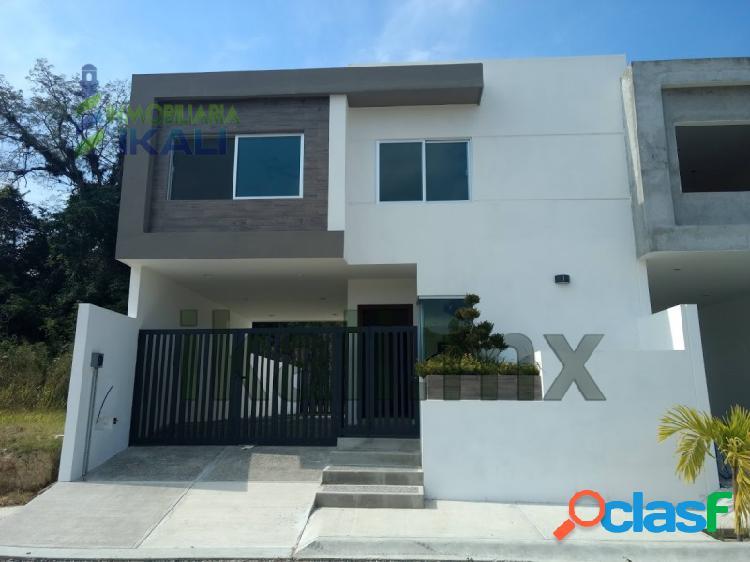 Rento casa 3 recamaras Col. Jardines Tuxpan Veracruz,
