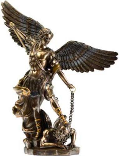 San Miguel Arcangel Acabado En Bronce De 26cm De Alto