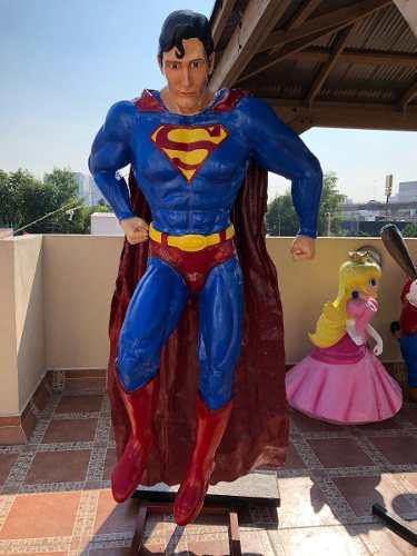 Superman Muñeco Marvel Escultura Figura En Fibra Y Resina