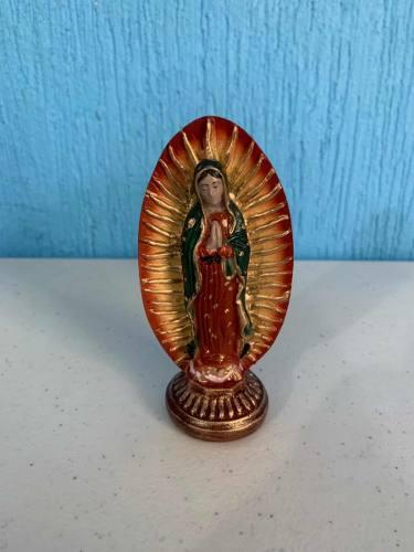 Virgen De Guadalupe 11 Centímetros De Resina Hecho En Mexi