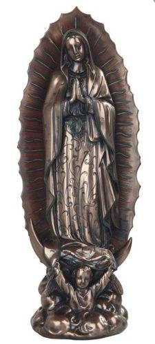 Virgen De Guadalupe De 40cm Acabado En Bronce