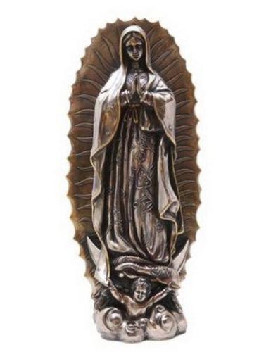 Virgen De Guadalupe De 48cm Acabado En Bronce