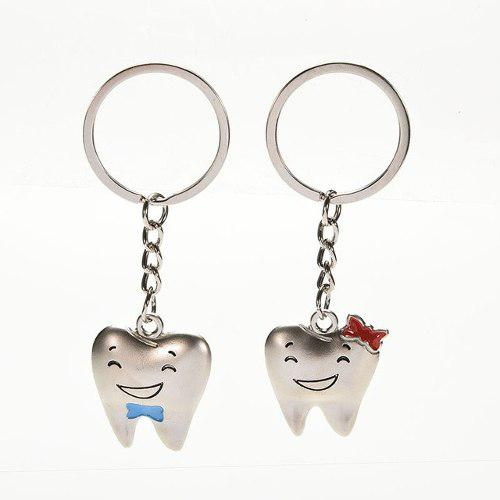 2 Llaveros Con Forma De Diente Muela Dental Dentista
