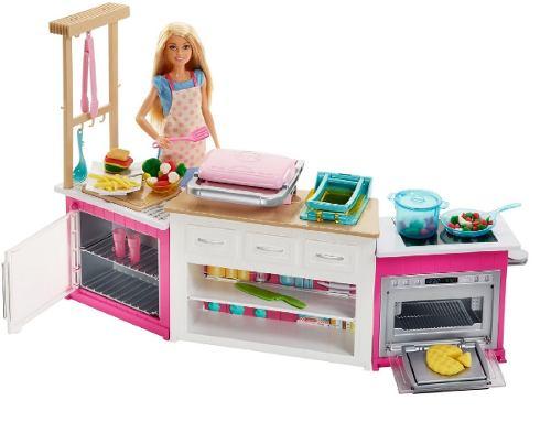 Barbie Cocina De Lujo Incluye Masa De Colores+muñeca Envio