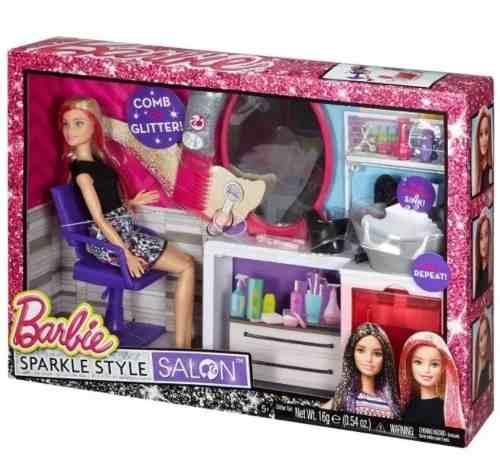 Barbie Salon De Belleza Brillo Glam