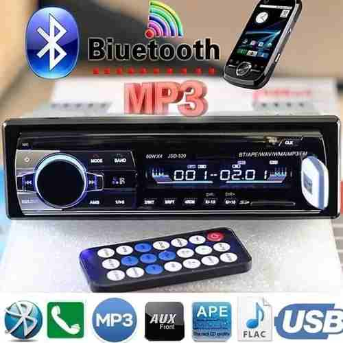Estéreo Auto Bluetooth Manos Libres Mp3 Micro Sd Usb 1 Din