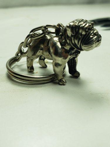 Llavero Con Figura De Perro Bulldog