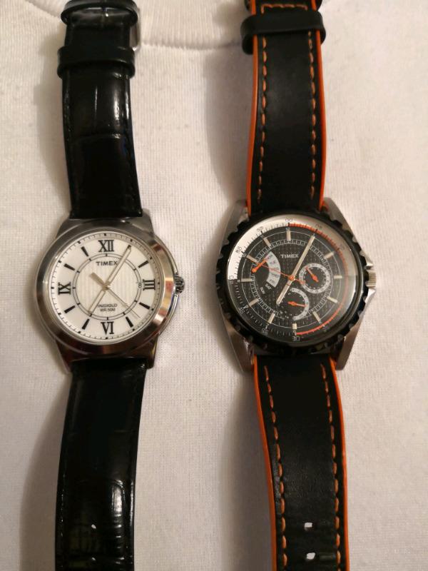 Relojes Timex índiglo con luz piel y Reloj Timex analógico