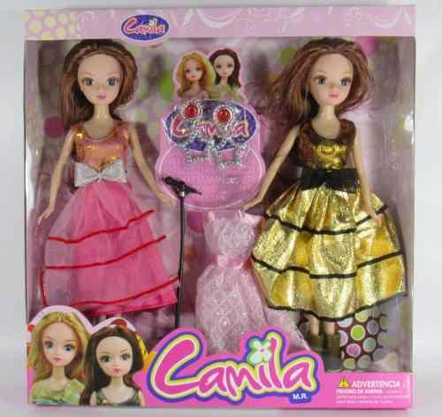 Set 2 Muñecas Camila Con Accesorios Regalo Ideal Niñas
