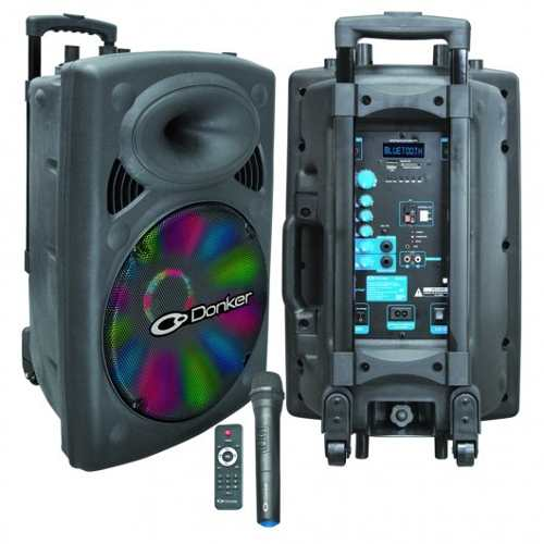 Bafle Cajon Bocina Amplificado Microfono Usb Bluetooth 12
