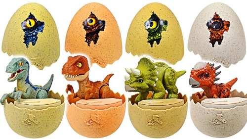 Jurassic World Dinosaurios Recien Nacidos Set De 4 Figuras