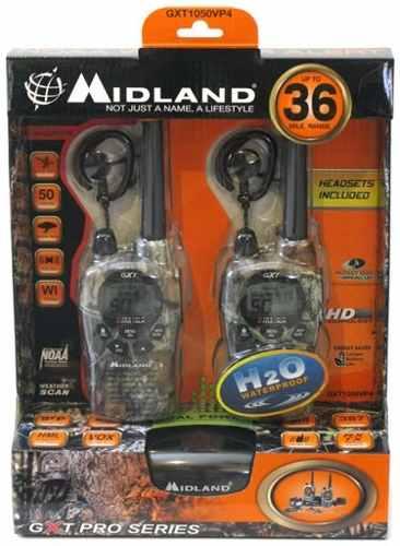 Midland Gxt-vp4 36 Millas 50 Canales Noaa Nuevos!
