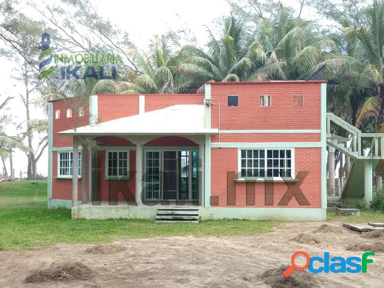 Vendo casa de playa 2 recamaras San Antonio Tuxpan Veracruz,