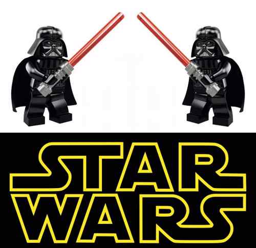 2 Mini Darth Vader Star Wars Compatible Con Lego - Jedi