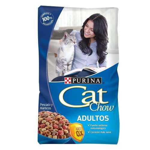 Alimento Para Gato Cat Chow Pescado Y Marisco Bulto 10 Kg