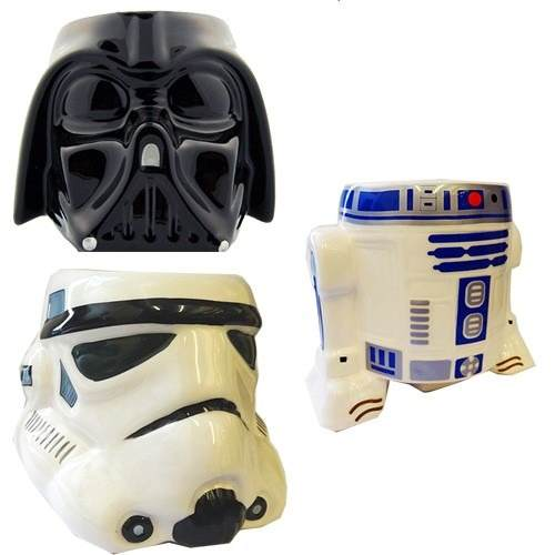 Combo 3 Tazas Star Wars Darth Vader, R2d2, Clone Trooper.
