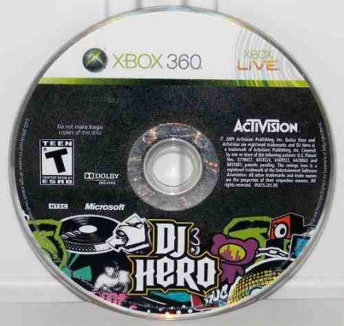 Juego Dj Hero Usado Para Xbox 360 Original - Blakhelmet C