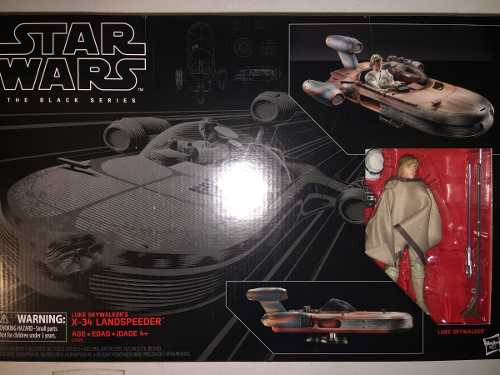 Luke Skywalker X 34 Landspeeder Star Wars Black Series Nuevo