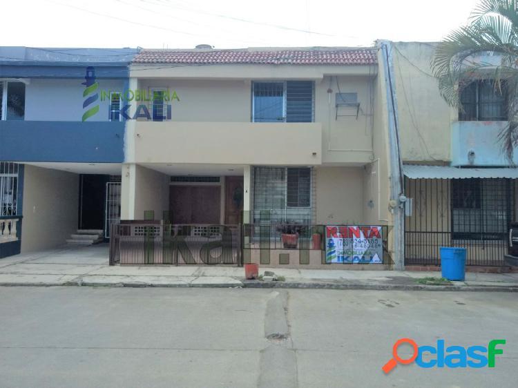 Renta casa 4 recamarás en Tuxpan Veracruz, amueblada en