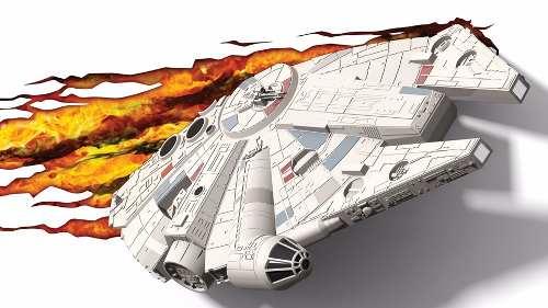 Star Wars Halcón Milenario Lámpara De Pared 3d