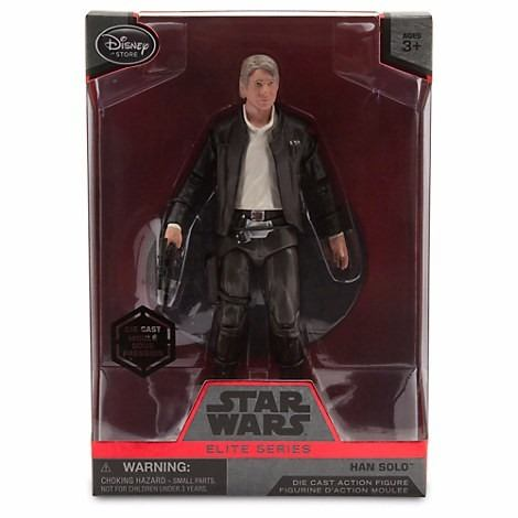 Star Wars Han Solo Die Cast Elite Series Figura Disney Store